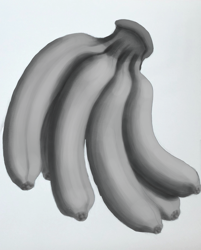 How to draw a banana_Light and shadow step-by-step_2nd shadow pass darker and occluded