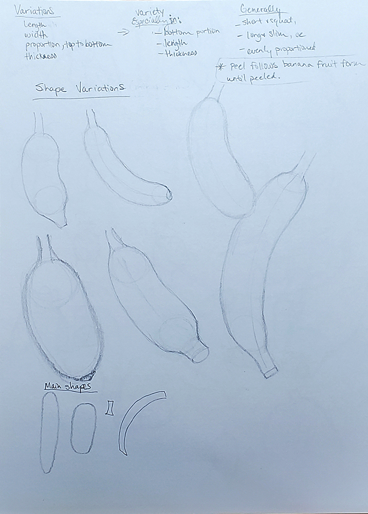 how to draw a banana_shape breakouts and variations