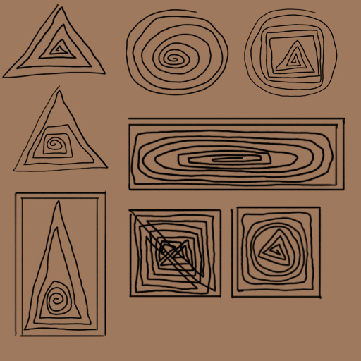 Line Type in Art Continuous Line Shapes