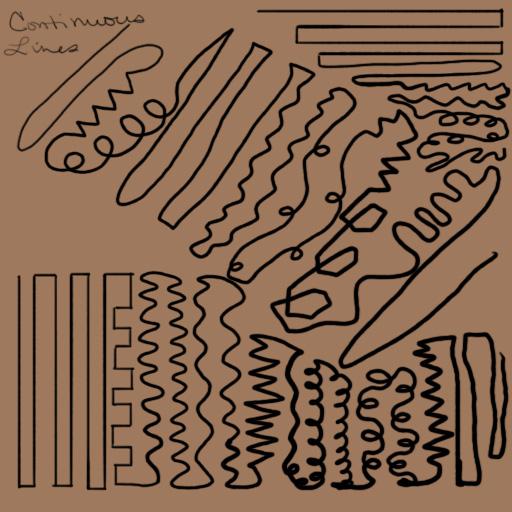 Line Type in Art Diagonal