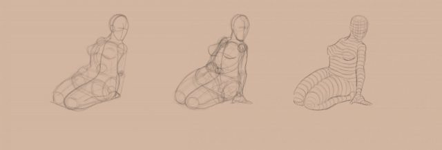 Shape to Form Using Space-Female form-shapes-forms-contour lines