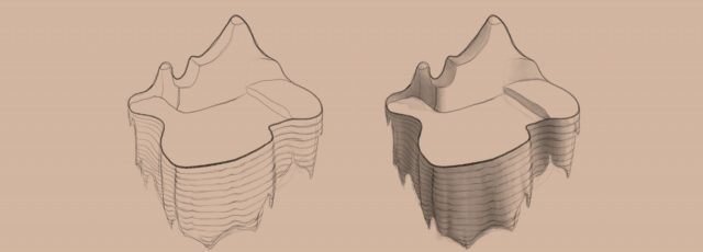Shape to Form Using Space-Oraganic Land-contour lines-value block in