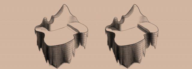 Shape to Form Using Space-Oraganic Land-contour lines-value range-cast shadows
