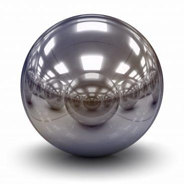 Chrome ball highly reflective
