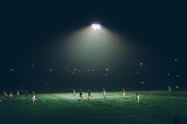 Distant Light Source Stadium Lights