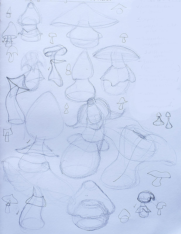 How to draw a mushroom_Sketching from imagination 01