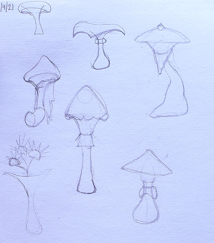 How to draw a mushroom_Sketching from imagination 02