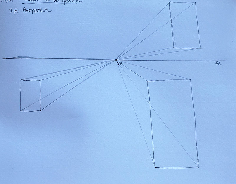 How to draw a mushroom_in one point perspective 02