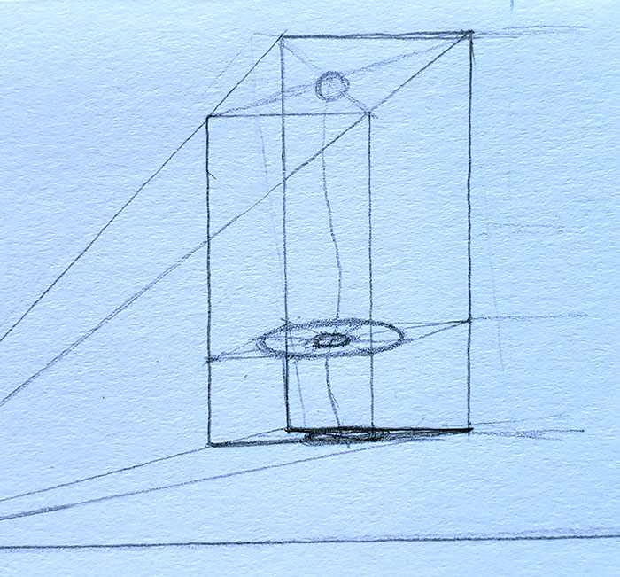 How to draw a mushroom_in one point perspective 05-detail 2