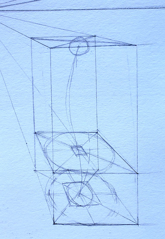 How to draw a mushroom_in one point perspective 05-detail 3