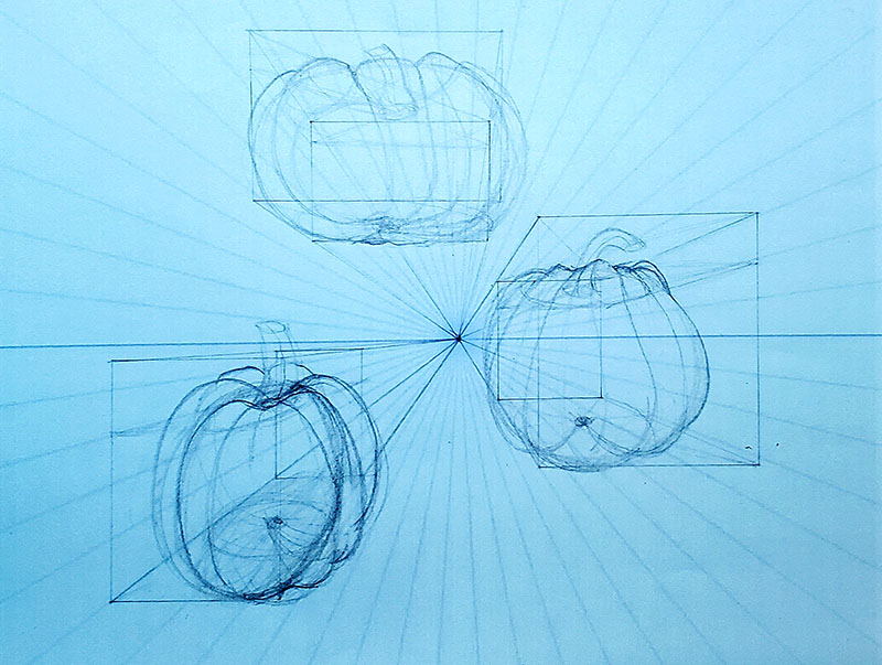 How to draw a pumpkin_1-pt Perspective 06