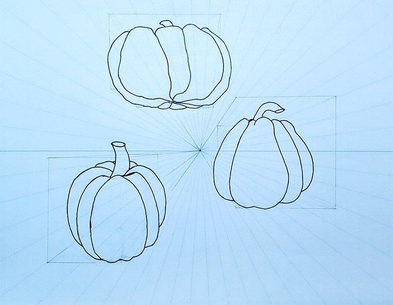 How to draw a pumpkin_1-pt Perspective 08