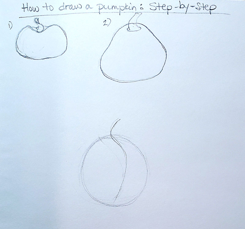 How to draw a pumpkin_Step by step 01a