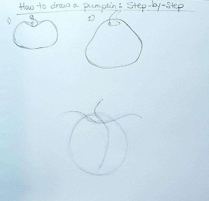 How to draw a pumpkin_Step by step 01b