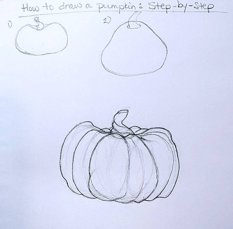 How to draw a pumpkin_Step by step 01g