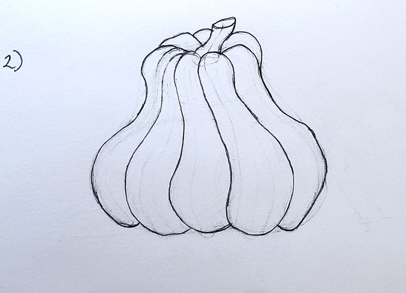 How to draw a pumpkin_Step by step 02i