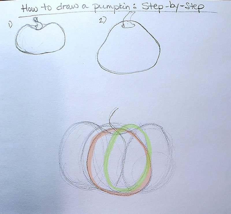 How to draw a pumpkin_Step by step with callout 01d