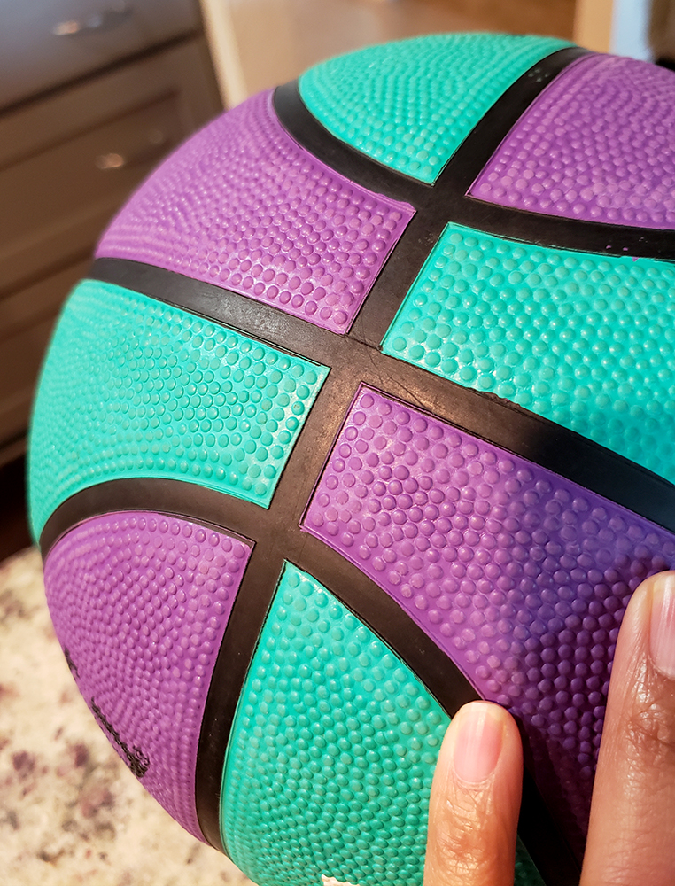 how to draw a basketball_pattern & texture