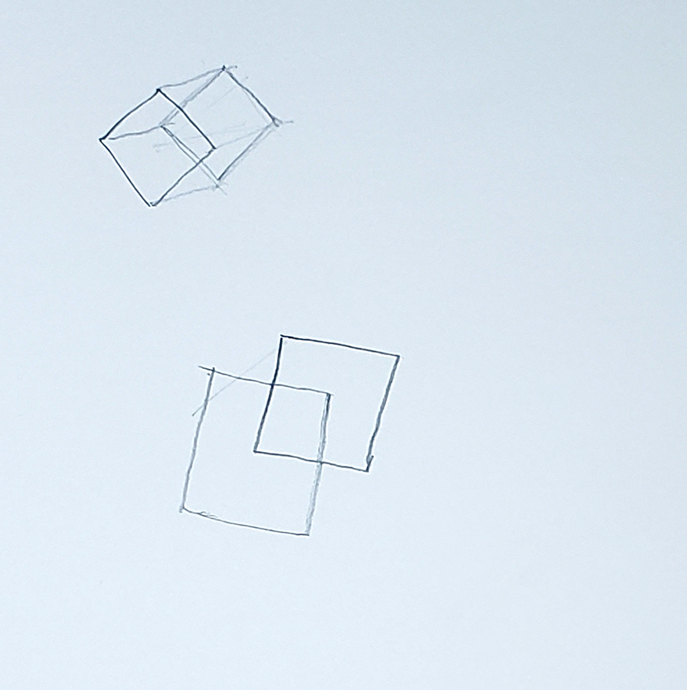 how to draw a cube_connect squares method step 02