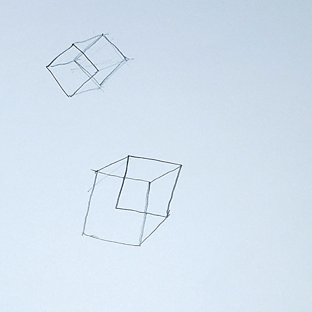 how to draw a cube_connect squares method step 04
