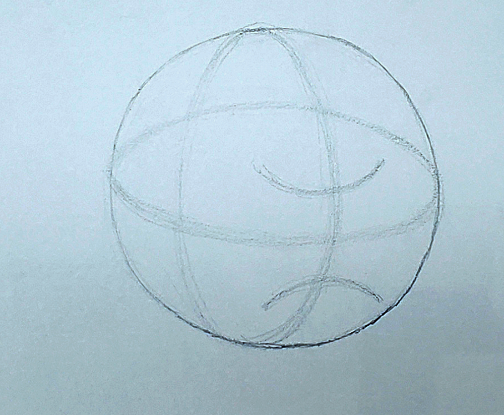 how to draw a basketball step by step 04