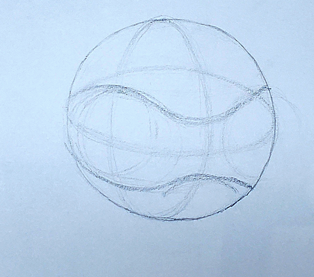 how to draw a basketball step by step 06