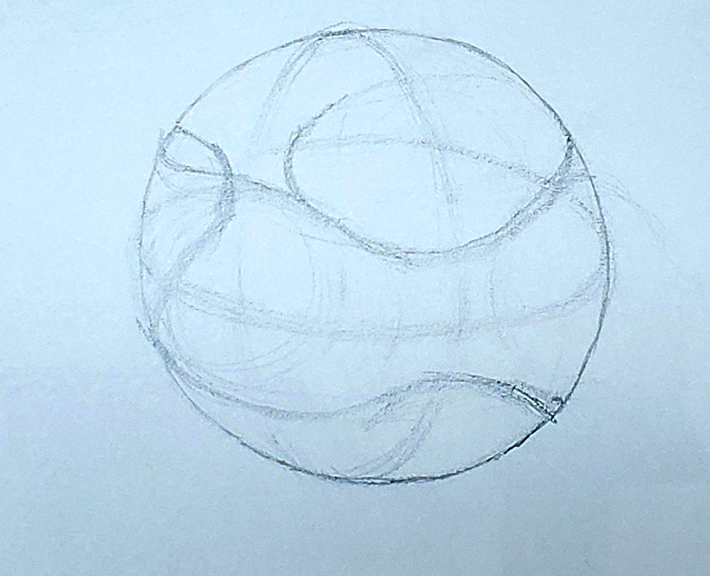 how to draw a basketball step by step 07