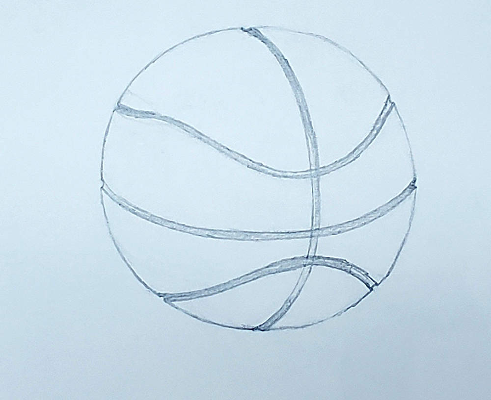 how to draw a basketball step by step 10