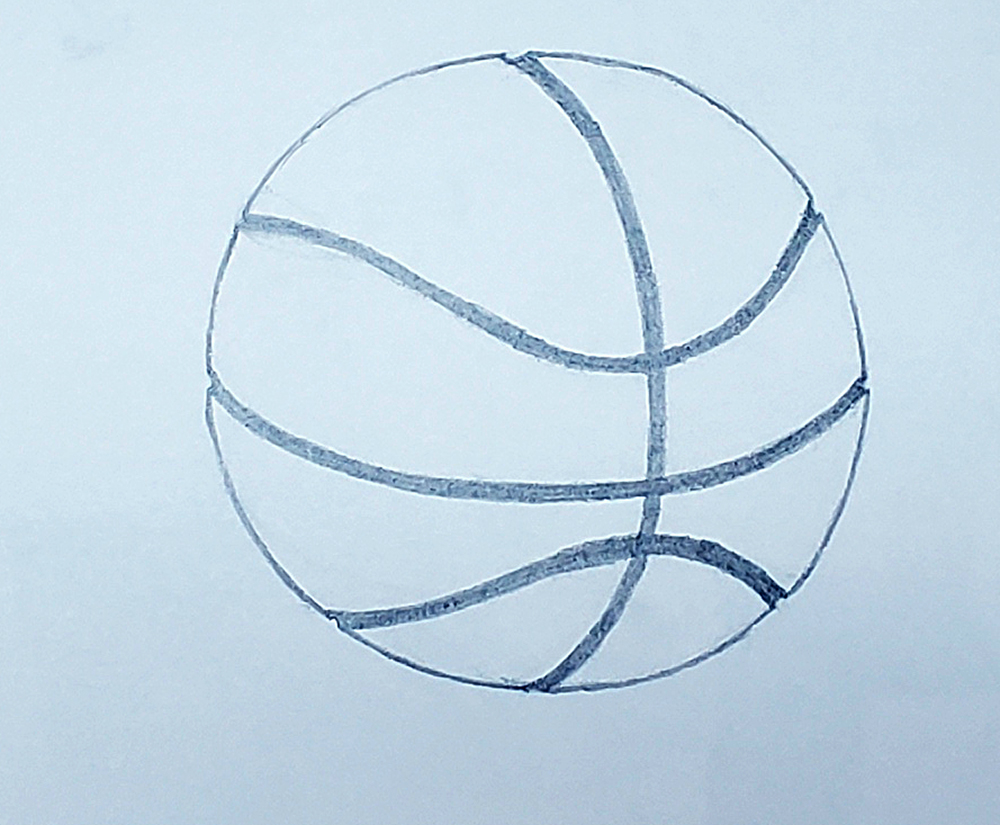 how to draw a basketball step by step 11