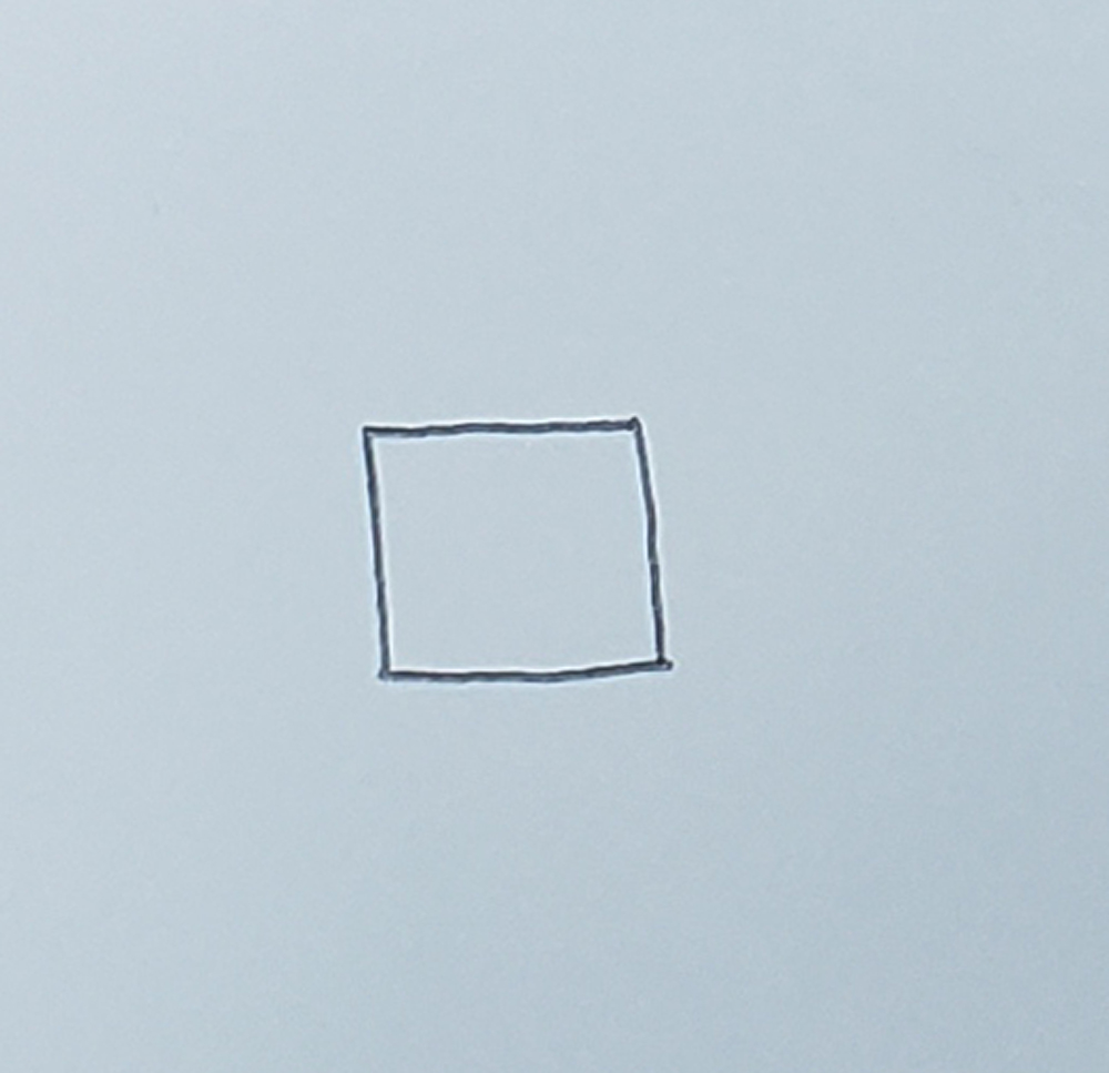 how to draw a cube_basic method step 1