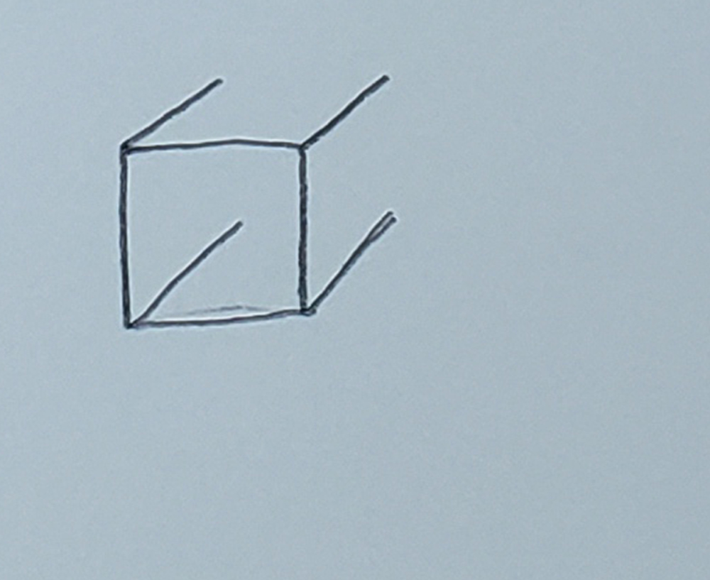 how to draw a cube_upside-down L's step 3