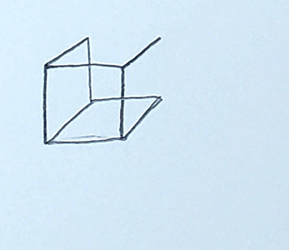 how to draw a cube_upside-down L's step 4