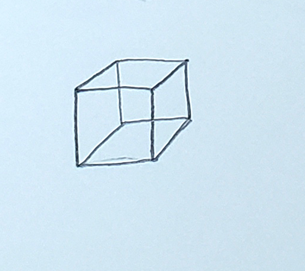 how to draw a cube_upside-down L's step 5