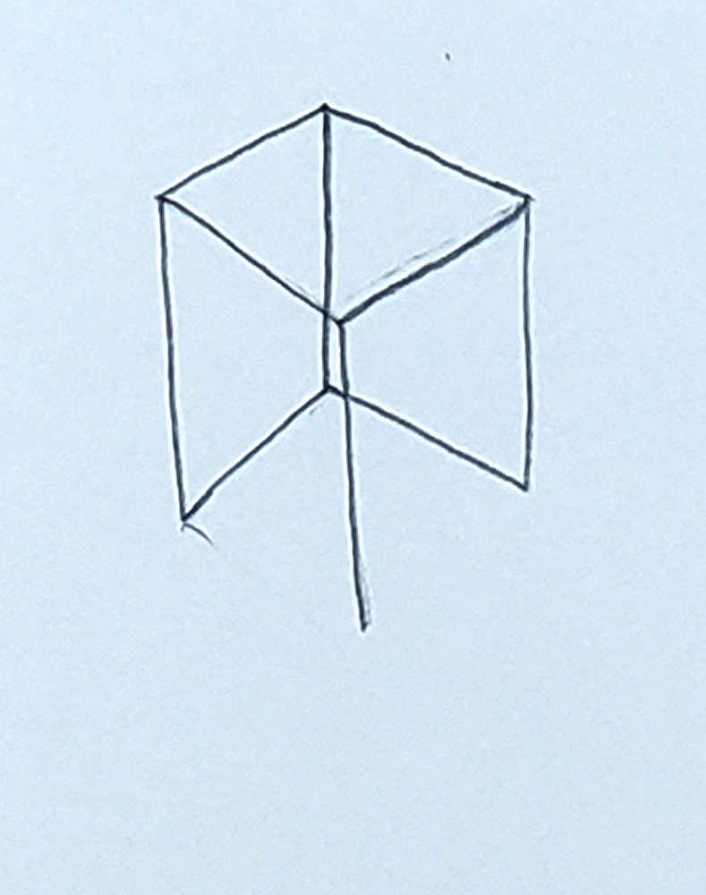 how to draw a cube_headless stick figure step 4