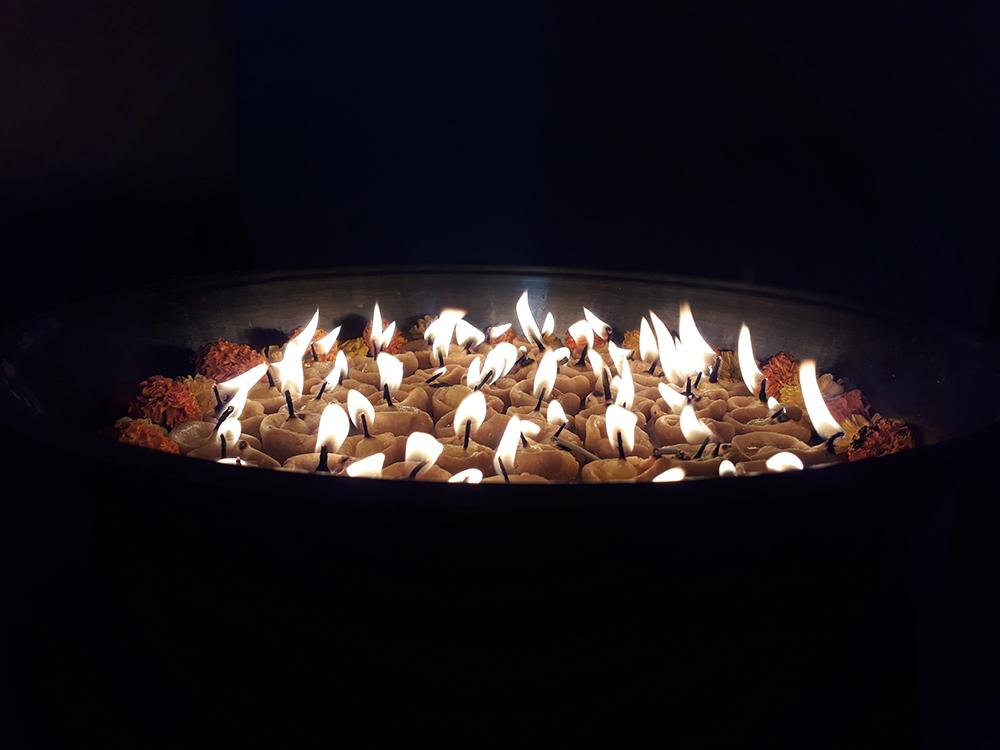 reflected light - natural light fire