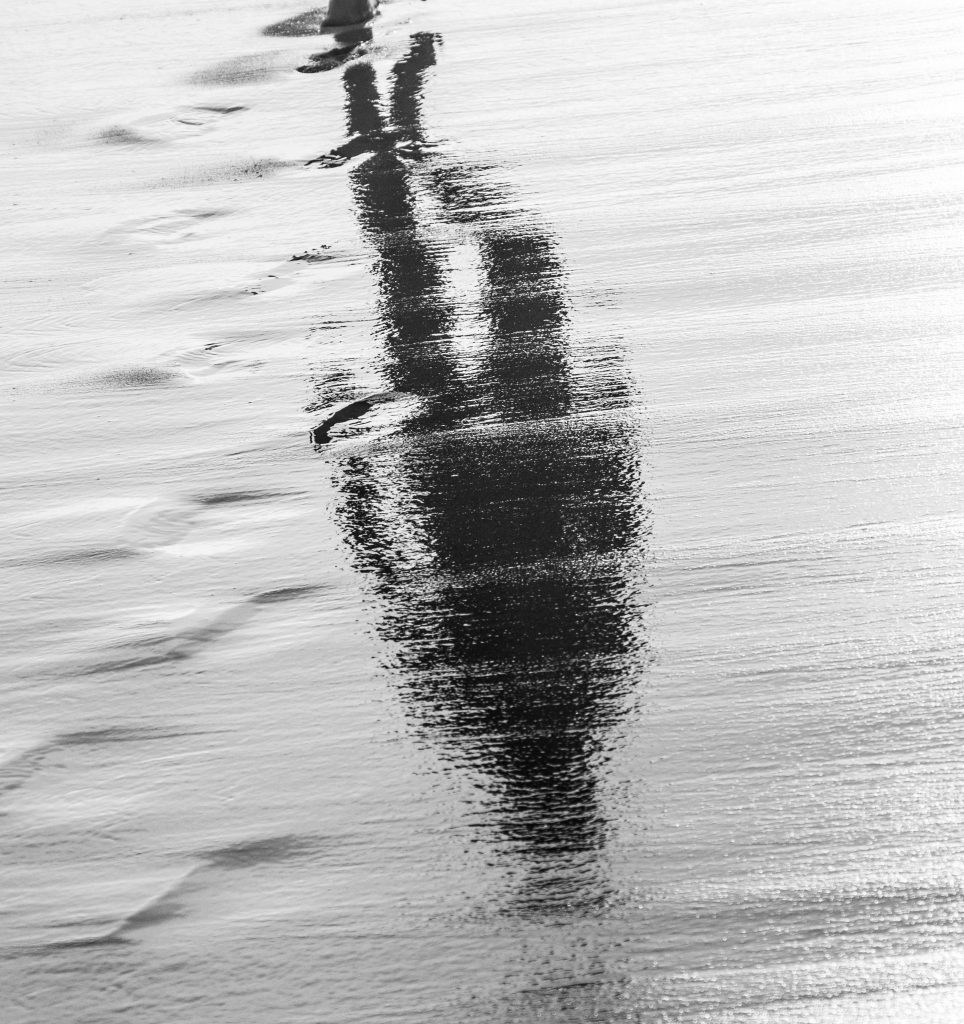 reflected light - reflection on water and sand